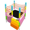 2018 Enjoyable Jumping Indoor Trampoline with Safety System