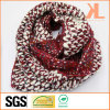 Acrylic Fashion Warm Red & White Knitted Neck Scarf