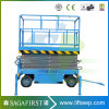 8m 4 Wheels Electric Hydraulic Scissor Lift Industrial Lift Tables