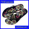 Ladies′ Beautiful Custom Print PE Plastic Slipper (15I007)