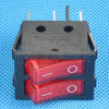 Illuminated on-off 24 Volt Rocker Switch with 2 LEDs