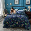 Air Condition Fleece Modern Style Different Patterns Flannel Comforter Cover