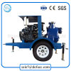 Trailer Mounted Air Cooler Self Priming Diesel Dewatering Water Pump