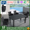 Square 5-Piece Patio Dining Set Wicker Garden furniture Table and Four Chairs Tg-Jw930