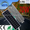 High Bright 70W Integrated LED Solar Street Light