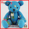 Blue Embrodiery Clothes Jointed Bear with Movable Arms and Legs