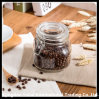 Round / Square Set Clear Glass Swing Top Bale Jar