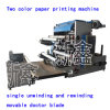 Ce Standard Qualified 2 Color Flexographic Printing Machine