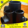 A234 Wpb Black Butt-Welding Pipe Fitting Tee for Structure Pipe