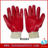 PVC Glove Rough Finished Working Cotton Gloves (P3351)