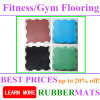 Highly Durable Fitness Gym 20mm Rubber Flooring Tile