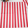 Red Striped Paper Napkin Party Favors