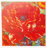 Handmade Canvas Red Flower Oil Painting for Hotel Decor