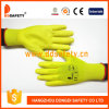 Ddsafety 2017 Yellow PU Coated Nylong Work Glove