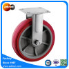 Rigid Plate Polyurethane Caster with Roller Bearing