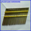 21 Degree Flat Head Plastic Coated Strip Nail with 25PCS /Strip