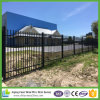 Cast Aluminum Top Black Powder Coated Steel Picket Fence