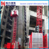 Double Cabin 1ton Construction Lift for Sale by Hstowercrane