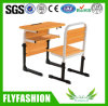 Adjustable Middle Single School Desk with Bench Classroom Furniture