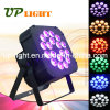 18PCS 18W UV+a+R+G+B+W 6in1 Flat PAR LED Lighting