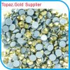 Aurum Gold Color Preciosa Strass Hot Fix Crystal Stone