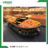 Wood and Metal Fruit Vegetable Display Rack Supermarket Fruit and Vegetable Display Shelves