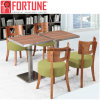 Light Green Modern Restaurant Furniture Set with Stainless Steel Legs Table (FOH-BCA08)