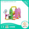 Indoor Playground Multi-Functinal Plastic Slide and Swing with Basketball Goal
