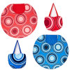 Printed Foldable Round Highly Absorbent Microfiber Beach Towel Terry Towels