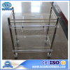 Bss200e Medical Equipment Stainless Steel+Acrylic Hospital Trolley with One Drawer