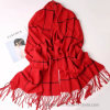 Thick Soft Check Woven Acrylic Winter Shawl (Hz23)