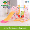 2017 Deer Style Hot Selling Plastic Kids Slide with Swing (HBS17006D)