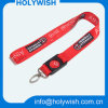 Free Design Thick Woven Lanyard with Oval Shape Hook