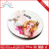Metal Makeup Mirror with Customized Drawing