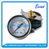 Black Steel Case Pressure Gauge with Clamp - Instrumentation Control