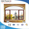 German Style Wooden Aluminum Round Top Arched Casement Window
