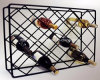 Wire Rectangle 18 Bottle Metal Wine Display Rack for Bar