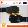 Ddsafety 2017 Black Latex Coating Glove Brushed Lining Safety Working Gloves