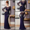 Long Sleeves Mother of The Bride Dresses Chiffon Evening Dresses M71001