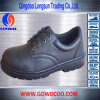 High Quality Black Rubber Soled Safety Shoes/Footwear (GWRU-1007)