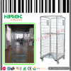 Z Frame Wire Mesh Foldable Roll Cage Container for Warehouse