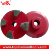 "Diameter 3"" Diamond Grinding Wheel with 4 Segments and Thread M14 or 5/8""-11"