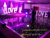 2017 New 2*2FT White & Black Acrylic Star LED Dance Floor for Wedding