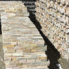 Natural Golden Yellow Slate Stacked Stone Wall Cladding (SMC-SCP435)
