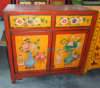 Antique Chinese Wooden Painting Cabinet Lwb266