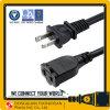 America Canada UL cUL Approval USA AC Power Cord 125V 2 Pin Plug+ NEMA 1-15r Female Socket