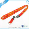Custom Woven Label Neck Lanyard with safety Breakaway Buckle