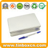 Custom Plain Silver Tin Rectangle Boxes for Metal Storage Container