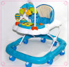 Blue and White Children Foldable Baby Walker