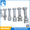 Hot DIP Galvanized Bolts Transmission Line Steel Tower High Tensible Hexagon Bolts Anchors with Structure Nut Grade 8.8